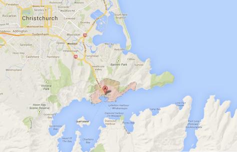 Map Lyttelton